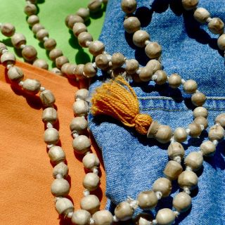 Wood Bead Tassel Necklace