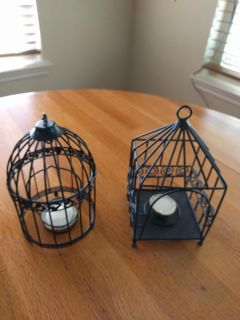 2 candle bird cages never burned