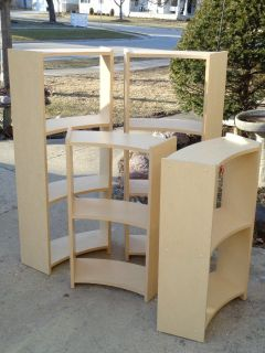 Tall Curved Bookcase