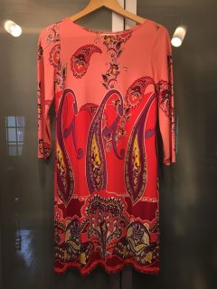 London Times pink/red paisley dress