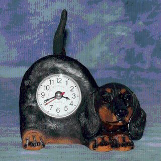 PUPPY DOG CLOCK with WAGGING TAIL