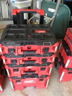 Like New Milwaukee Tool Boxes on Roller Carts