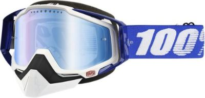 Find 100% Racecraft Snow Goggles Black w/Mirror Blue Lens 50113-002-02 motorcycle in Lee's Summit, Missouri, United States, for US $74.95
