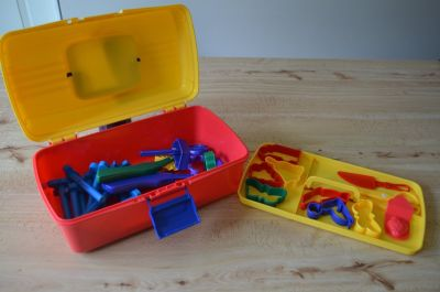 Clay tool set with case