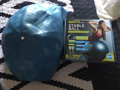 Stability ball great for cross training
