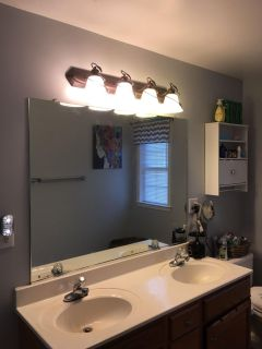 Mirror faucets and countertop for vanity