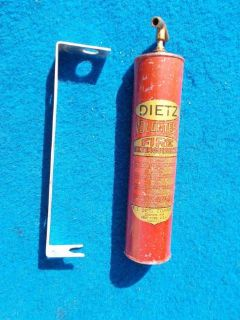 Sell Vintage Original Dietz Fire Volunteer Extinguisher & Mounting Bracket Very Nice motorcycle in Great Bend, Kansas, United States, for US $49.99