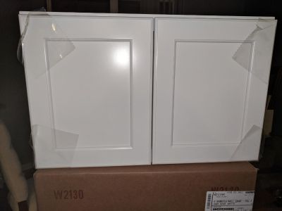 4 Brand New Kraftmaid Cabinets with Optional Glass Doors