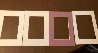 4- 5x7 Picture Frame Mattes