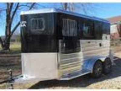 2019 Trailers USA REDUCED! 2 Horse Slant Black Polished Aluminum 2 horses