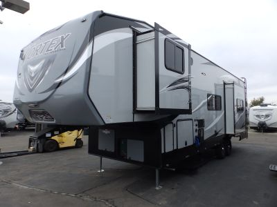 2020 Genesis Supreme VORTEX 3317VXL, 2 SLIDES, 2 A/C'S, ONAN 5500, 160 WATT SOLAR PANEL, ARCTIC PACKAGE, RAMP DOOR PLAYPEN, 3 TV'S, CENTRAL VACUUM, INVERTER