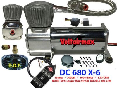 Purchase VoltAirMax DC680C 200psi Air Compressor Air Bag Suspension 3.53CFM w/7Switch motorcycle in Mesa, Arizona, United States, for US $219.90