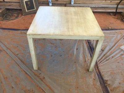 Distressed end table or children s table