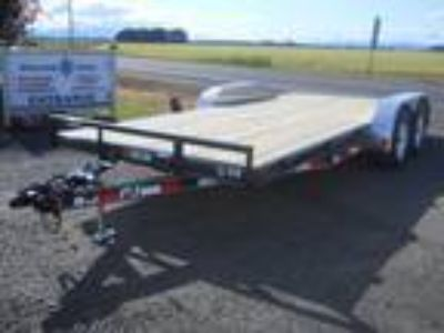 2018 PJ Trailers Carhauler 7' X 18' 7K Flatbed W/Dove Tail