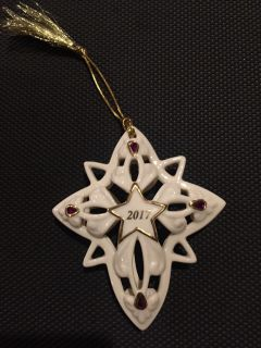 2017 Christmas Star Ornament with purple.
