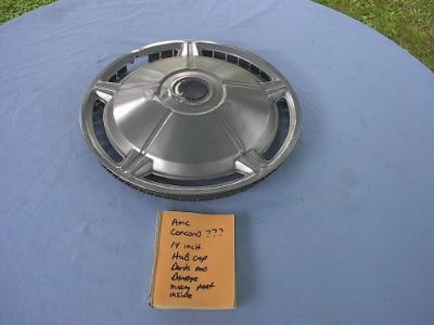 Sell Amc 14 inch hub cap wheel cover concord????? dents and damage motorcycle in Vancouver, Washington, United States
