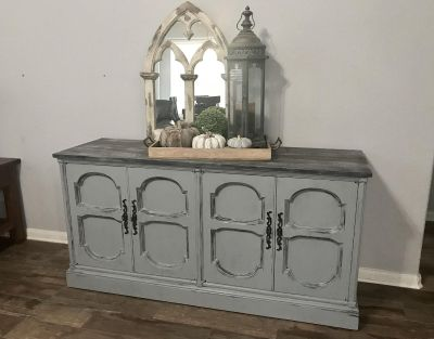 Vintage Imperial Hand Carved Buffet/ Entryway/ TV Console- Large