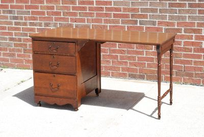 Antique Larkin Folding sewing table / Desk
