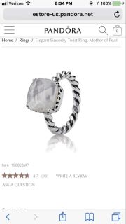 ISO a pandora ring like this size 7.5 or 8