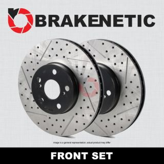 Purchase [FRONT SET] PREMIUM Drilled Slotted Brake Rotors BNP62128.DS CTS-V w/Brembo motorcycle in Long Beach, California, US, for US $311.87