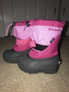 EUC Columbia Snow Boots, Little Girls size 8