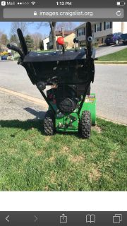 John Deere 826D snowblower