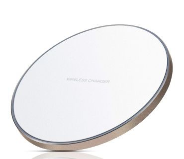 White/Gold Wireless Charger New