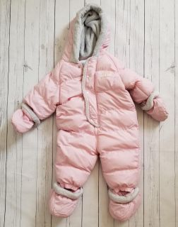 The Childrens Place baby girl bunting snowsuit winter coat jacket 6-9 months