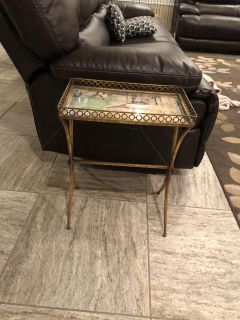 Mirrored top side table or accent table