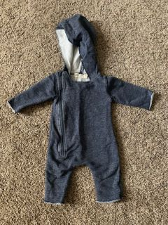 Organic Cotton Monica & Andy hooded onesie