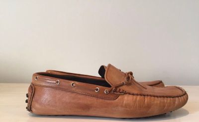 Brown driving shoes loafers leather great condition eu42 us9