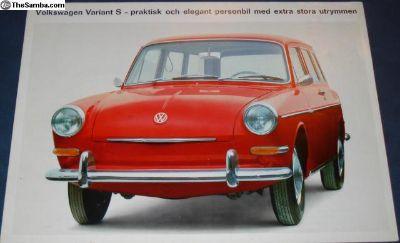 1964 8 Page Type 3/III Sales Brochure Swedish