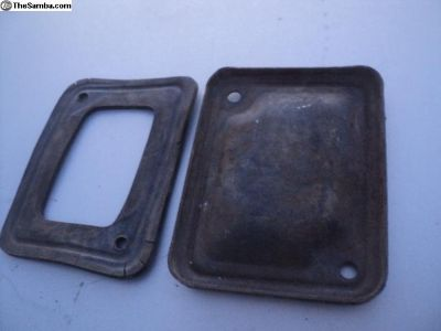 early type 3 transmission plate cover w/og rubber