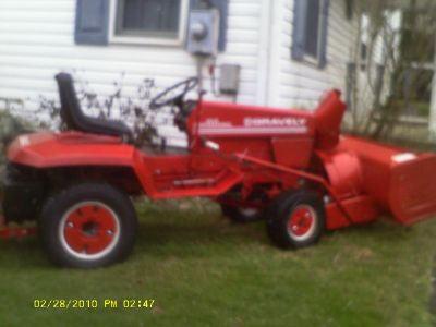 "Gravely 20G with snowblower, weights, & 50"" mower deck"