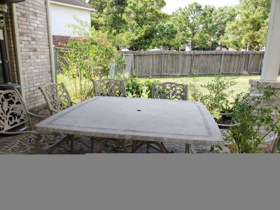 Stone Topped Patio Table and Chairs