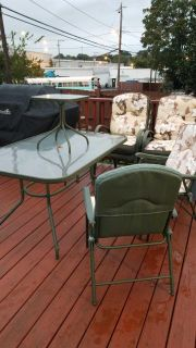 Free table 4 chairs small table with 2 folding chairs