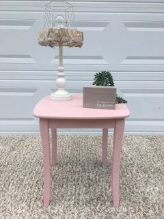 Ballet pink side table night stand girls