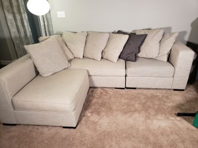 Multi piece couch with ottoman
