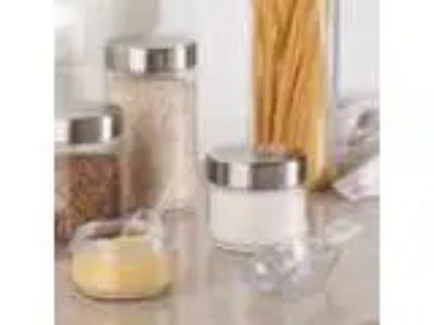 InterDesign Kitchen and Bath Scoops - Piece Set Clear