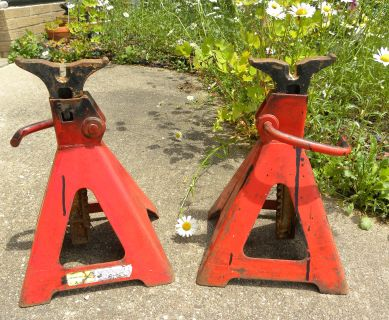 Real HEAVY duty Jack Stands 5 ton (10000#) each 1 pair (2 pcs
