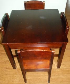 SALE PENDING - Kids Wood Table + 4 Chairs