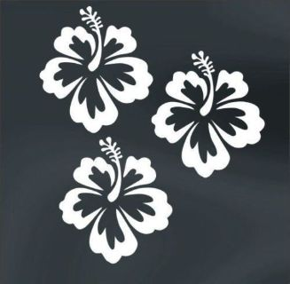 Sell Hawaiian Hibiscus surfing tropical spring summer flower flowers decal LOT of 3 motorcycle in Mentor, Ohio, United States, for US $6.98