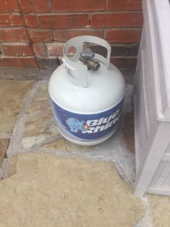 Propane tank over half full