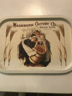 Collectible metal tray