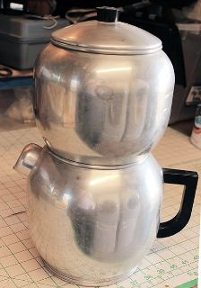 Vintage 1950's West Bend 16 Cup Aluminum Drip Coffee Maker