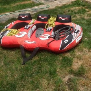 Airhead Viper TripleRIder Inflatable Towable RIder Tube with FREE ROPE