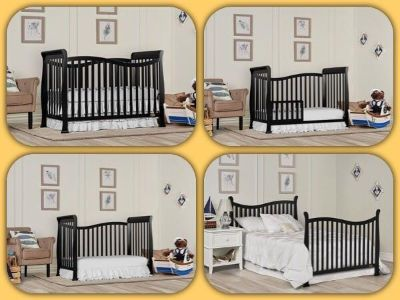 Dream On Me Violet 7 in 1 Convertible Life Style Crib, Twilight Black, New In Box