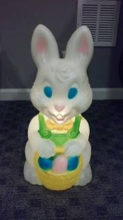 VINTAGE EASTER BUNNY BLOW MOLD