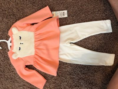 New cute fuzzy llama 12m Cat & Jack outfit