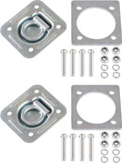 Purchase QTY 2 RECESSED D-RING CARGO TRAILER FLOOR ANCHOR TIE DOWN+BACKING PLATES RTD-1-2 motorcycle in West Bend, Wisconsin, US, for US $30.99